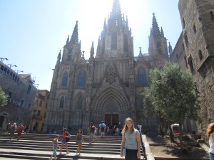 Outside La Sagrada Familia