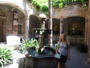Somewhere in the Gothic Quarter of Barcelona