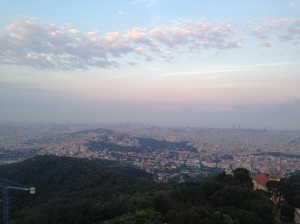 A view of Barcelona from Tibidabo