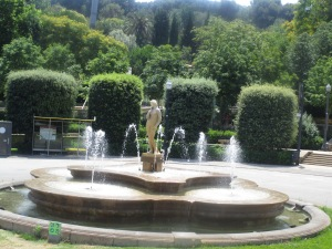 Fountains in Montjuic gardens.  All gardens here are named for poets.