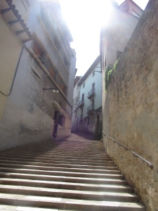Stairs through the town