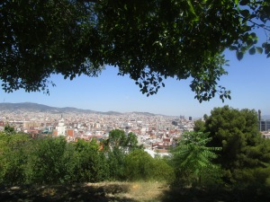 A view of Barcelona about 1/4 the way up