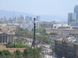 Columbus monument from Montjuïc.