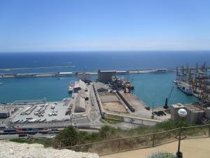 The port in Barcelona again from Montjuïc