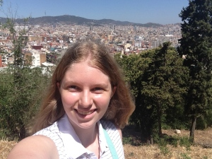 Me on Montjuïc, actually only about halfway up, but it was the best of the pictures