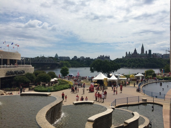 From Museum of Civilization looking toward Parliament Hill