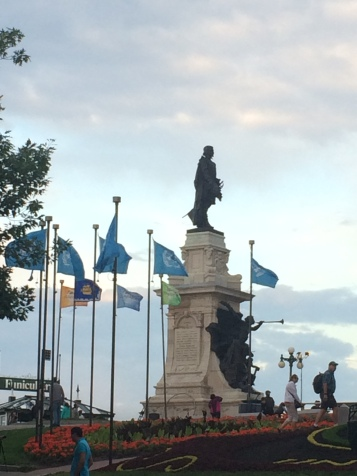 Statue by Chateau Frontenac
