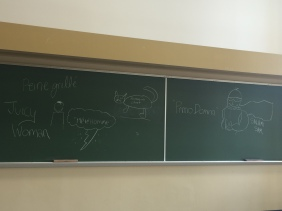 Coming up with names for superheroes in class