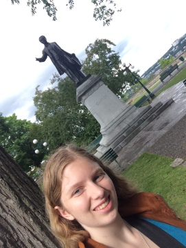 Some park with a statue and me