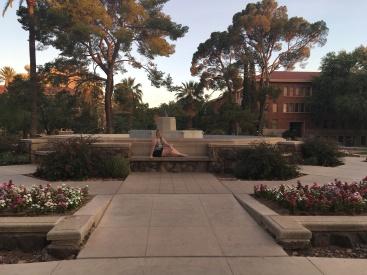 On-campus photoshoot