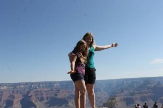 With Kayley, above the canyon