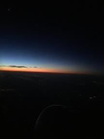Sunrise flying back East