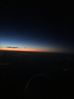 Sunrise flying back East