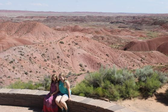 Sisters at the Painted Desert