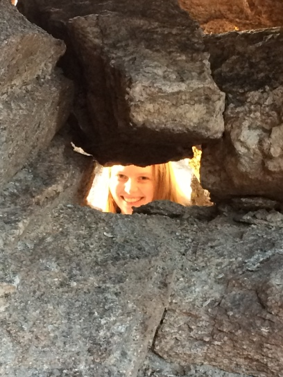 We found a hole in the rocks