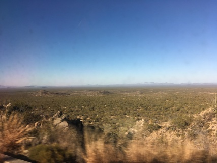 Driving up to Kitt Peak