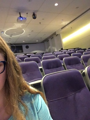 Alone in the lecture hall because I'm chronically early