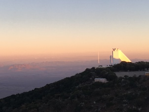 Sunset with the solar telescope