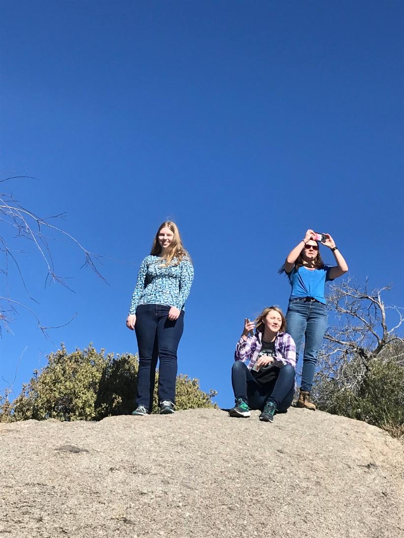 I climbed a rock