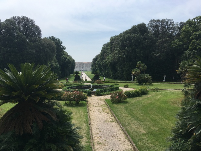 Looking back from the gardens