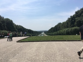 Looking back from the end of the gardens