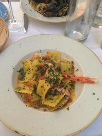 Ravioli with Scampi sauce