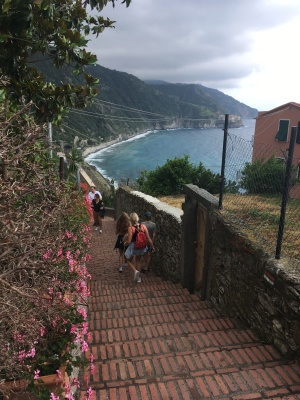 Looking down from Corniglia
