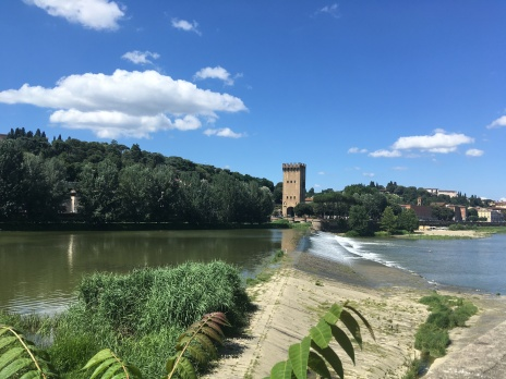 Looking across the Arno