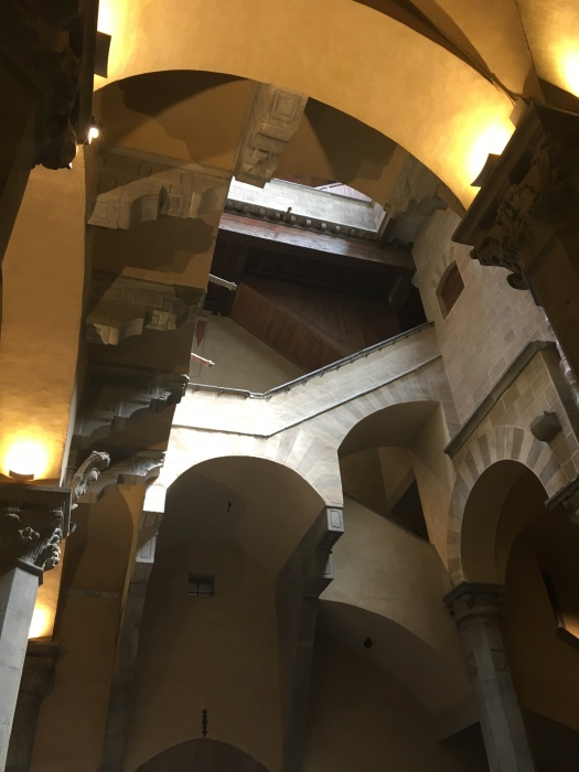 Looking up in the Palazzo Davanzati
