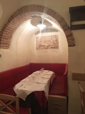 Also the cute restaurant in Rome where I got pineapple spaghetti