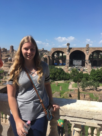 In front of the Basilica of Maxentius