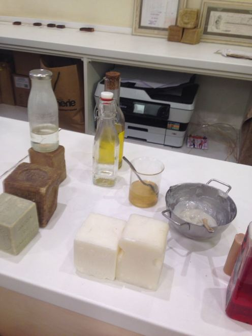 The ingredients for Savon de Marseille and a few example blocks