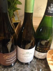 Champagne, Viognier, and Gamay