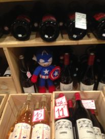 Captain America wine cozy