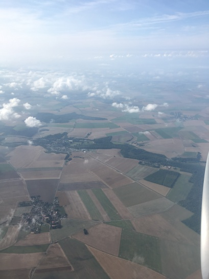 Flying into France