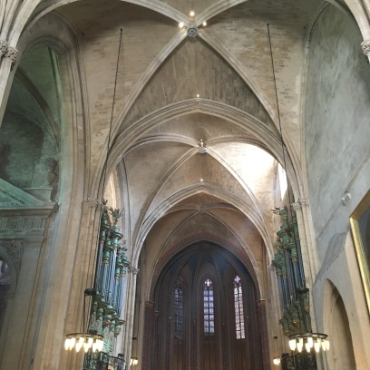 Gothic ceiling of the main nave