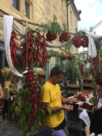 Chili stall at the market