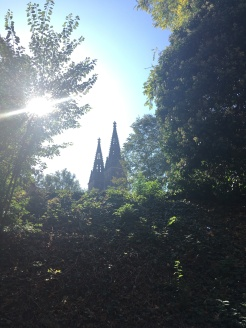 Spires of the basilica