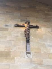 Lit crucifix