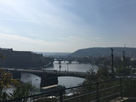 Looking down to the Vltava