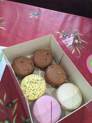 Macaroons - my favorite was the raspberry