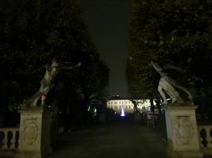 Mirabell gardens lit up