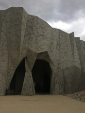 Entrance to reconstructed cave